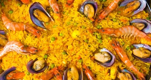 Spanische essen, paella - spanisch kochen